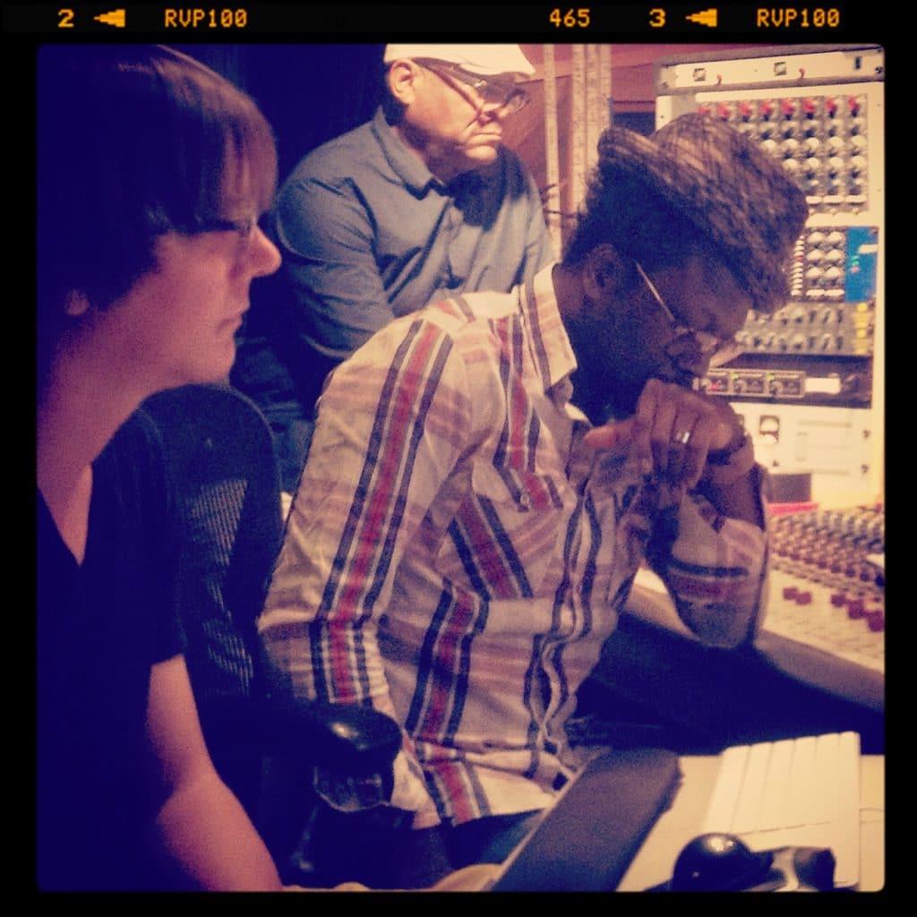 """Bank Studio avec le réalisateur Ulrich """"Yul"""" Édorh. 2014 Los Angeles."""